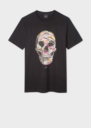 Paul Smith Men's Black 'Fish Hook Skull' Print Organic-Cotton T-Shirt