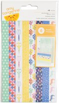 "American Crafts Amy Tan Finders Keepers Washi Tape 6-Page Booklet 6.5""X4""-W/Gold Foil"