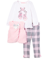 Kids Headquarters Pink Ballet Slippers Set - Girls