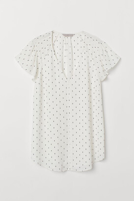 H&M Flutter-sleeved top