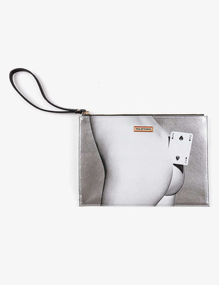 Seletti Toiletpaper Loves Two of Spades pouch bag