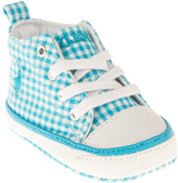 Polo Ralph Lauren Blue Gingham Harbour Hi Booties - Infant