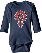 Bob Daph Unisex World Of Warcraft Horde Spray Baby Onesie Clothing Sleepwear Long Sleeve