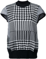 Sacai knit dogtooth top