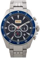 Just Cavalli Men's JC1G013M0055 Chronograph Blue Dial Stainless Steel Date Watch
