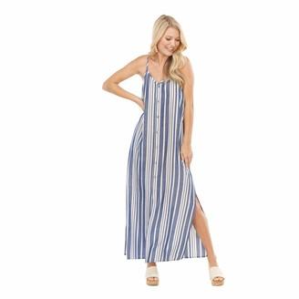 Mud Pie Women Blue Lane Maxi Dress (Medium)