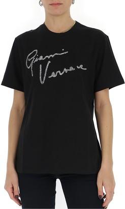 Versace GV Signature Embellished T-Shirt