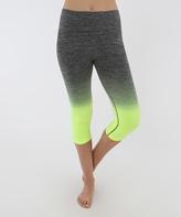 Electric Yoga Lime Green Faded Capri Leggings