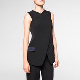 Paul Smith Women's Black Wool Waistcoat Cross-Over Top