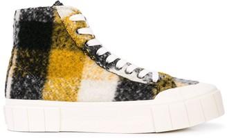 Good News Hi-Top Check Sneakers