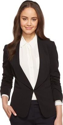 Tahari by Arthur S. Levine Women's Bi Stretch Open Jacket with Ruched Sleeves