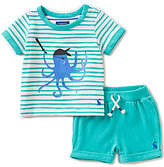 Joules Baby Boys Newborn-12 Months Striped Octopus Top & Shorts Set