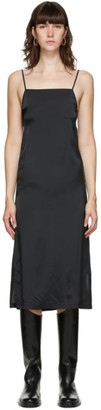Jil Sander Black Slip Long Dress