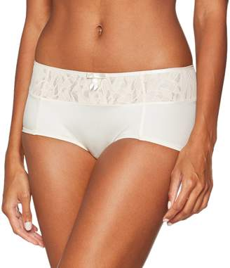 Playtex Women's Ideal Beauty Lace Shorty Brief Off- White Blush 16 (Size:X-Large)