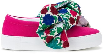 Joshua Sanders floral bow slip-on sneakers