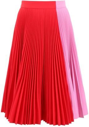 Calvin Klein Colour Block Pleated Skirt