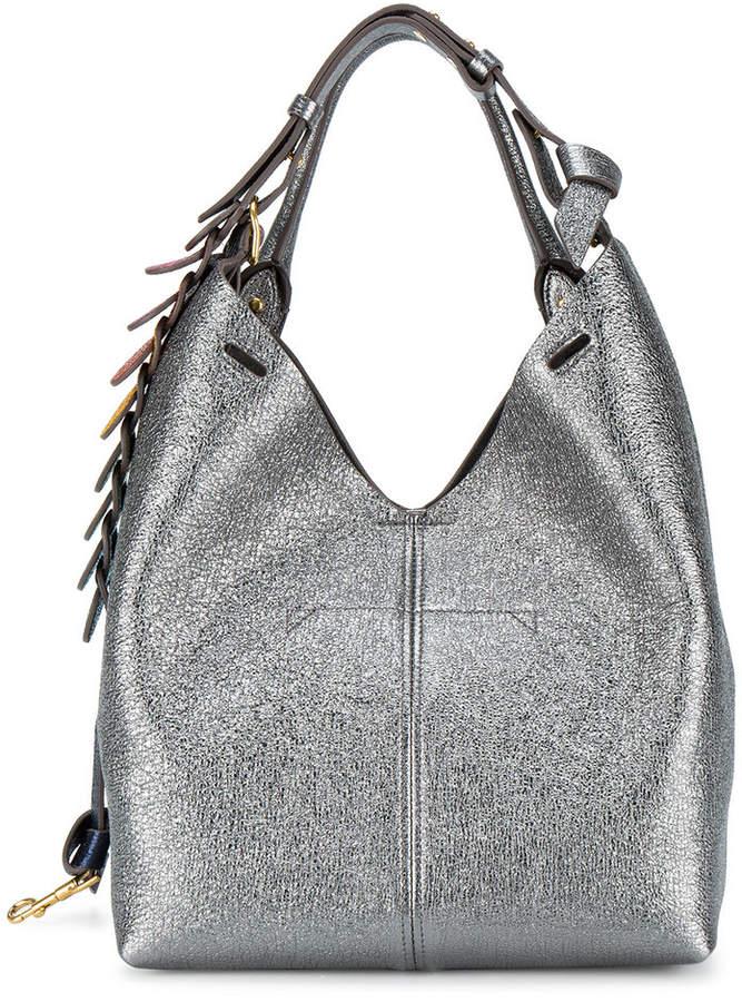 Anya Hindmarch Silver Leather circle link shoulder bag