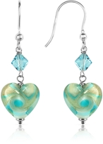 Glass Heart House of Murano Vortice - Turquoise Swirling Murano Earrings
