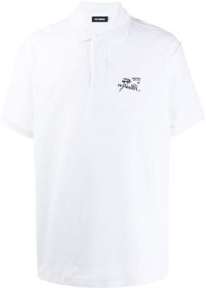 Raf Simons embroidered logo polo shirt