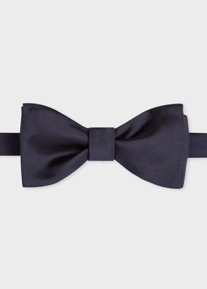 Paul Smith Men's Navy Silk Satin Bow Tie