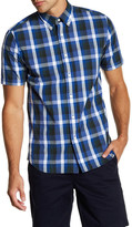 Jack Spade Caulfield Trim Fit Plaid Sport Shirt
