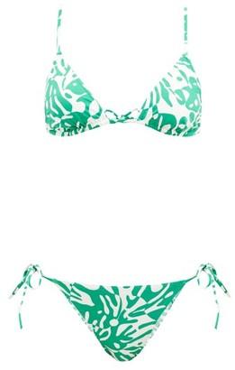 Eres Starfish Coralsand-print Triangle Bikini - Green White