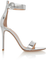 Gianvito Rossi Metallic Leather Sandals - Silver