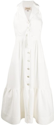 Temperley London Sophia tie-waist sleeveless shirt dress