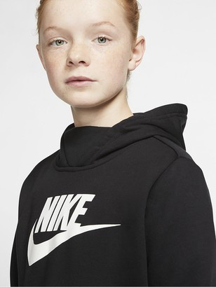 Nike Sportswear Girls Hoodie - Black/White