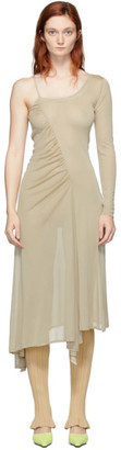 BEIGE Gauntlett Cheng Single-Shoulder Dress