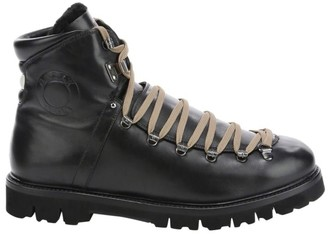 Bally Chack Shearling-Trim Leather Hiking Boots