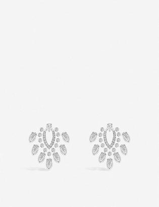 Messika The Desert Rose 18ct white-gold and diamond earrings