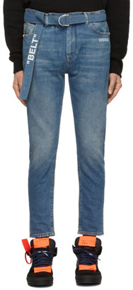 Off-White Off White Blue Slim Low Crotch Jeans