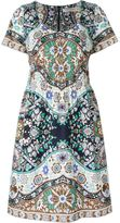 Etro shortsleeved floral print dress