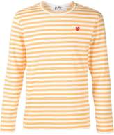Comme des Garcons mini heart striped T-shirt