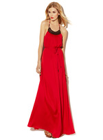 Vince Camuto Back Tie Halter Maxi Dress