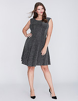 Gabby Skye Metallic Fit & Flare Dress