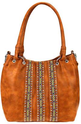 Montana West Women's Handbags BROWN - Brown Geometric Tote
