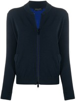 Roberto Collina lightweight knitted bomber jacket