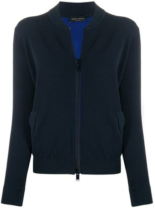 Roberto Collina lightweight knitted bomber jacket