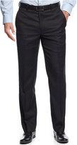 Alfani RED Slim-Fit Navy Herringbone Tonal Striped Pants