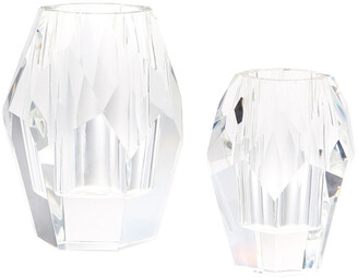 Tozai Home Set Of 2 Facets Vases