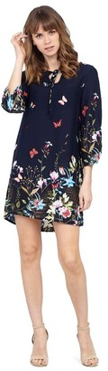 M&Co Izabel floral tie neck dress