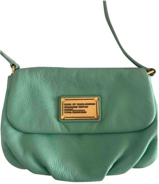 Marc by Marc Jacobs Classic Q Green Leather Clutch bags
