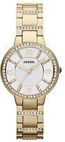 Fossil Virginia Gold-Tone Bracelet Watch