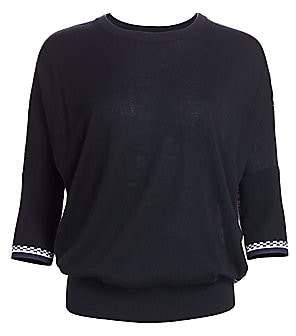 Derek Lam Women's Printed Silk & Cashmere Dolman Sweater