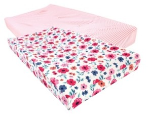 Touched by Nature Baby Girls and Boys Garden Floral Changing Pad Cover