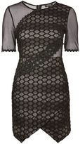 Topshop Honeycomb Airtex Wrap A-Line Dress
