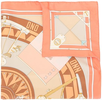 Hermes Pre-Owned Sextans Print Scarf