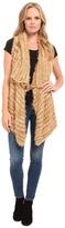 Kensie Furry Stripe Vest KS9K5788